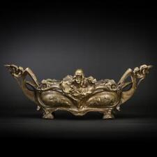 """Art Nouveau Bronze Jardiniere   Antique Centre Piece   French Planter   20"""""""