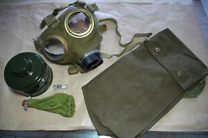 Unissued Gas Mask M67 Filter Civil protection Canvas face Vintage complete 80's