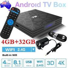2018 T9 4GB+32GB Android 8.1 TV Box 4K Smart HD Media Player WI-FI Bluetooth AU