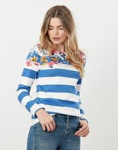 Joules Womens Harbour Print Long Sleeve Jersey Top - Meadow Border Stripe