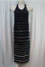 Denim & Supply by Ralph Lauren Dress Sz M Indigo Blue Multi Sheer Fringe Maxi