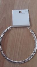Dorothy Perkins Silver-Tone Choker-Style Necklace New