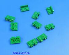 LEGO 1x2 1/2 BOTTONI Piastra Verde/VERTICALE ORIZZONTALE / 10-pc
