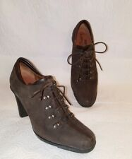DONALD J PLINER Air Touch Sport Travel Brown Suede Lace Up Booties Size 6