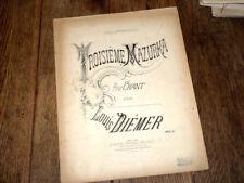 3ème mazurka pour chant partition piano chant 1885 Louis Diémer