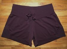 "CHAMPION ~ Size S ~ Mid-Rise ATHLETIC SHORTS  "" PLUM "" ~ Soft Polyester Knit"