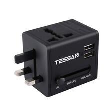 TESSAN Universal Travel Adapter With USB - International Worldwide AC Power NEW