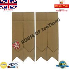 HS Scottish Kilt Hose Sock Flashes Plain Khaki Tartan Acrylic Wool Garter Flash
