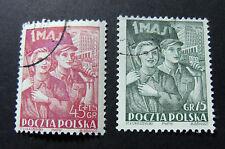 """POLONIA,POLAND,POLSKA, 1952 """" Giornata dei lavoratori 1° Maggio """" 2V. cpl set US"""
