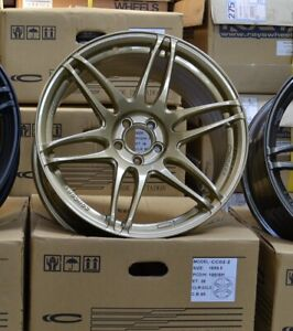 Concave Concept CC02 18x9.5 +38 PCD5x100 Wheels Rally Gold color EOFY clearance