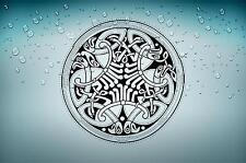 Sticker adesiva adesivi tuning auto celtico trinity triquetra croce knot rA10