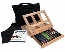 Artists 44pc Drawing Easel Art Set With Easy To Store Bag - Royal and Langnickel