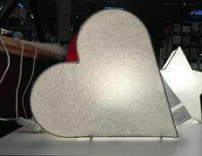 IKEA STRALA Lampe Dekoleuchte Herz Weiß 30cm Papier Dekolampe Hochzeit Herzen