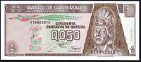 1994 GUATEMALA 1/2 QUETZAL BANKNOTE * UNC * P-86b *