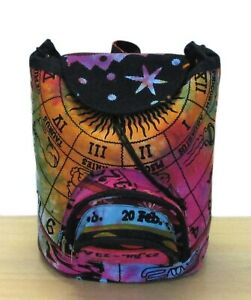 Indian Multi Tie-dye Mandala Fashion Backpack Bag Cotton Hippie Sports Bags
