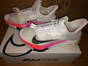 Nike Men's Air Zoom Tempo Next% Flyease DJ5435-100 White Pink Shoes Size 10.5
