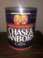 Rare Vintage Chase & Sanborn Coffee Tin For ALL COFEE MAKERS 23 oz or 652 g