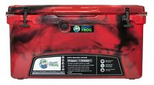 Frosted Frog Red Camo 75 Quart Ice Chest Heavy Duty Molded Insulated Cooler