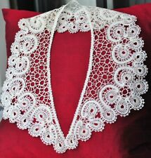 "Pattern for Large V Collar. Length 25 "" Russian Vologda Lace. Full size."