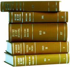 Recueil Des Cours, Collected Courses 1985 (Recueil Des Cours, Collected Courses)