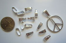 Colgador liso para colgante 10 mm X 25 UNIDADES oval baño plata abalorios