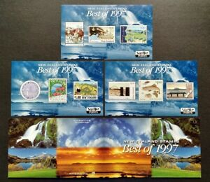 New Zealand Best of 1997 Stamps complete set 3 Mini-Sheets MS Mint NH in Folder