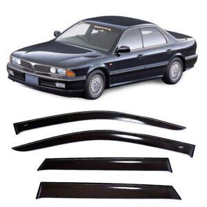 For Mitsubishi Diamante 1990-1995 Window Visors Sun Rain Guard Vent Deflectors