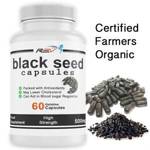 Black Seed CAPSULES (Nigella Sativa) Black Cumin 500mg Pure & Organic  SEE VIDEO