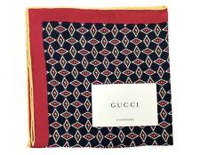 Gucci geometrische G silk pocket square-navy-UVP £ 110-NEU