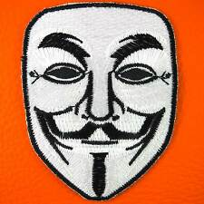 Vendetta Halloween Anonymous Guy Fawkes Fancy Mask Embroidered Iron on Patch