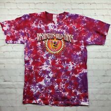 Vintage WASHINGTON WILD THINGS Tie Dye SHIRT Mens Large Minor League Baseball