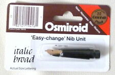 New Osmiroid 22K 'Easy Change' Nib Unit- Broad Italic