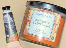 BATH & BODY WORKS HAND LOTION MARSHMALLOW PUMPKIN LATTE, 3-wick Soy Blend Candle