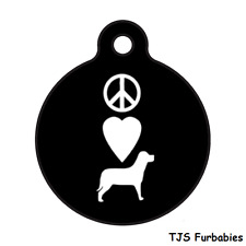 LOVE PEACE DOG-Adoption Rescue Shelter Custom Personalized Pet ID Tag for Collar