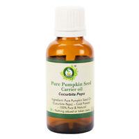 R V Essential Pure Pumpkin Seed Oil Cucurbita Pepo Cold Pressed 100% Natural