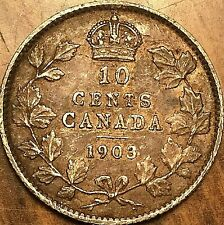 1903 CANADA SILVER 10 CENTS COIN - Nicer example!