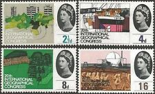 Great Britain 1964 GEOGRAPHICAL (PHOSPHOR)(4) Unhinged Mint, SG 651-4