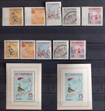 ALBANIA 1963 OLYMPICS XF Perf + ImPerf MNH** Sets+Sheets, Olympiade Tokio Japan