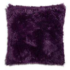 "Long Pile Super Soft and Cuddly Shaggy 17x17"" (43x43cm) Cushion Cover (Purple)"