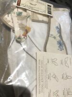 Longaberger Botanical Fields Spring Basket OE Fabric Liner New Bow Ties Floral