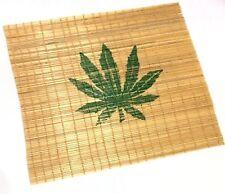 Leaf Design Original Bamboo Cigarette Rolling Mat Pocket King Size 18cm X 18cm