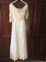 Wedding Dress plain & simple , By David Fielden Size 14 Excellent Condition