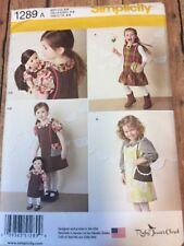 "S1289 New Uncut Little Girl & 18"" Doll Dress"