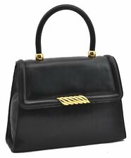 Authentic BALENCIAGA Hand Bag Leather Black A5372