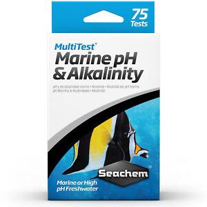 Seachem MultiTest Marine pH & Alkalinity Test Kit 75 Tests Saltwater Aquariums