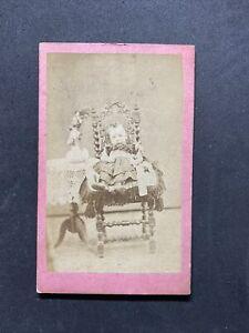 Victorian Carte De Visite CDV: Child Post Mortem? Baileys Traveling Studio