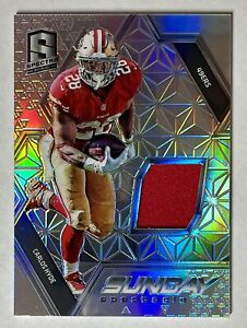 2016 Spectra CARLOS HYDE Sunday Spectacle Patch /199 49ers