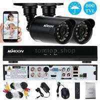 4CH CCTV System 960H D1 DVR 2pcs 800TVL IR Bullet Cameras Home Security Kit Q3I8