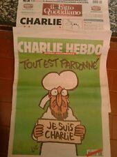 """CHARLIE HEBDO - 1° Edizione 14/01/2015 - Originale con """"il fatto quotidiano"""""""