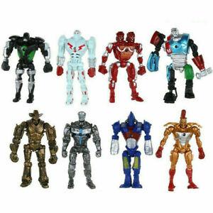 8pcs/Set Movie Real Steel Zeus Atom Midas Noisy Boys Action Figures Robot Toys